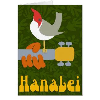 Hanalei retro tarjeta de felicitación