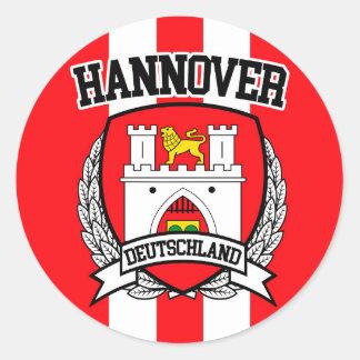 Hannover Pegatina Redonda