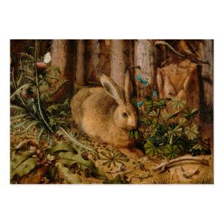 Hans Hoffmann una liebre en el bosque Tarjetas De Visita Grandes