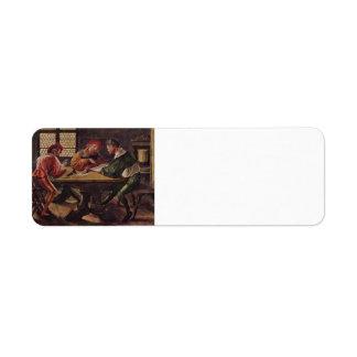 Hans Holbein - letrero para un profesor Etiqueta De Remite