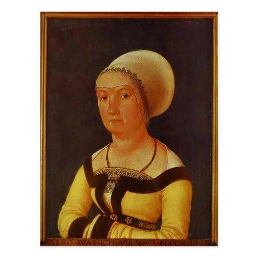 Hans Holbein - retrato de la mujer de 34 años Tarjeta Postal