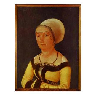 Hans Holbein - retrato de la mujer de 34 años Postales