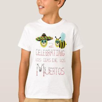 happy2bee que celebra, los dias de los muertos camiseta