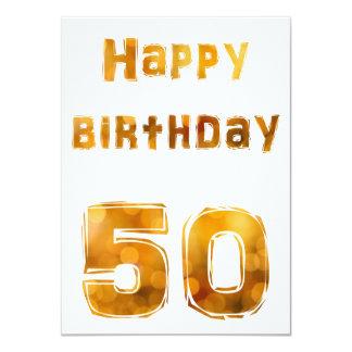 Happy birthday 50 invitaciones invitación 11,4 x 15,8 cm