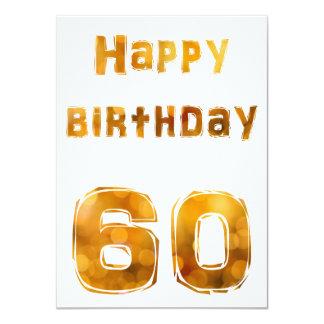 Happy birthday 60 invitaciones invitación 11,4 x 15,8 cm