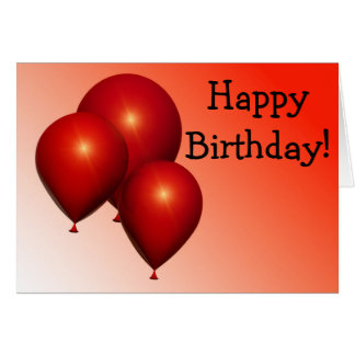 Happy Birthday Card: Three hablas Balloons Tarjeta De Felicitación