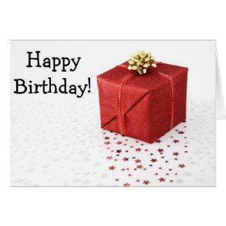 Happy Birthday Card with veneno and estrella Tarjeta De Felicitación