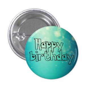 Happy birthday chapa redonda de 2,5 cm