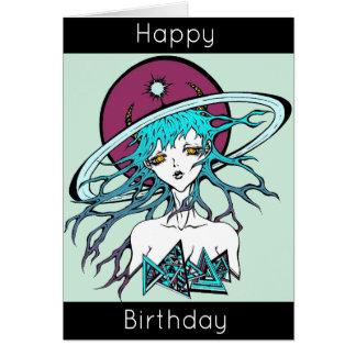 Happy Birthday manga space original Tarjeta De Felicitación