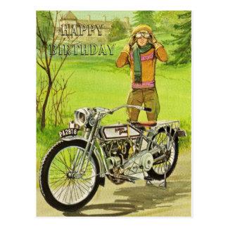 HAPPY BIRTHDAY MOTORCYCLE POSTAL