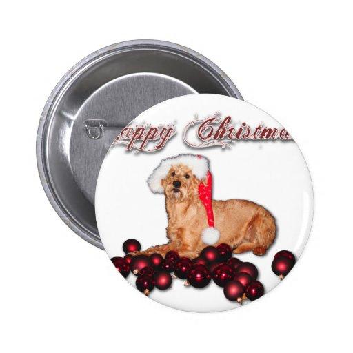 "Happy Christmas ""Terrier Irlandesa "" Pins"