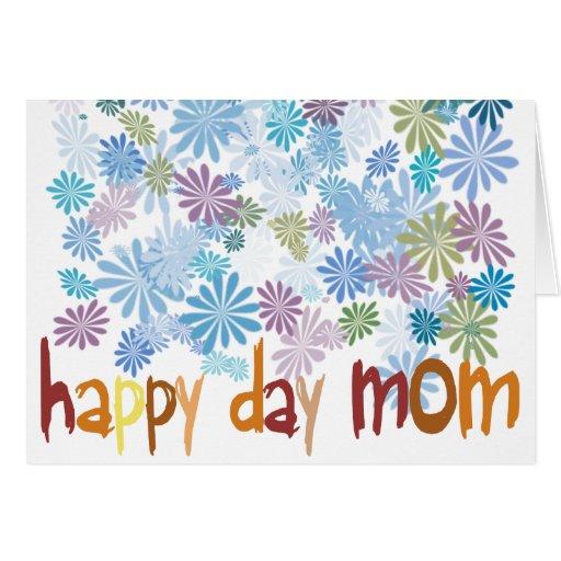 Happy Day Mom Tarjeton