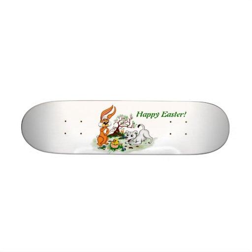 Happy Easter! Cachorro, polluelo, liebre Patinetas Personalizadas
