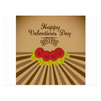 happy valentines postal