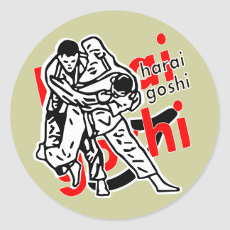 harai-goshi pegatina redonda