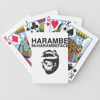 Harambe McHarambeface Baraja De Cartas Bicycle