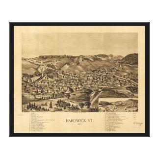 Hardwick Vermont en 1892 Impresión En Lona