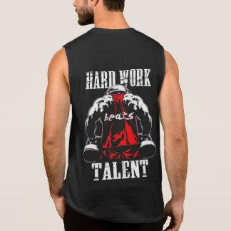 Hardwork bate los tanques de la motivación del camiseta sin mangas