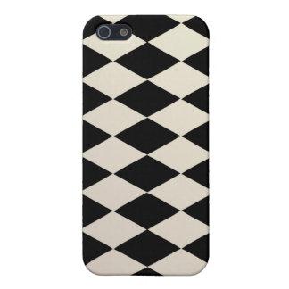 Harlequin blanco de PixDezines/color de fondo diy iPhone 5 Funda