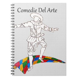 harlequin de comedy del arte libro de apuntes