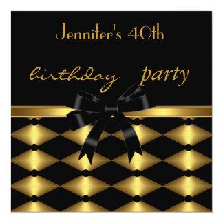 Harlequin elegante del 40.o cumpleaños de la invitación 13,3 cm x 13,3cm