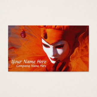 Harlequin hermoso tarjeta de negocios