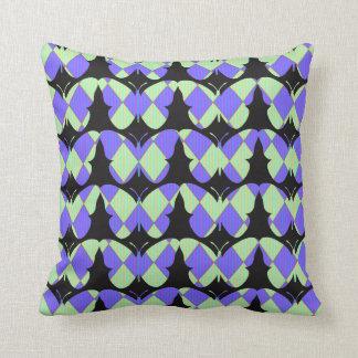 Harlequin-Mariposas (c) - Lumbar y cuadrado Cojín Decorativo