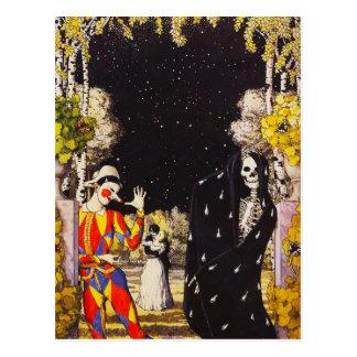 Harlequin y postal de la muerte