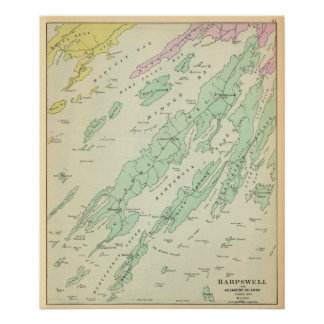 Harpswell, islas adyacentes póster