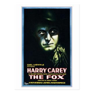 """Harry Carey en postal """"del Fox"""""""