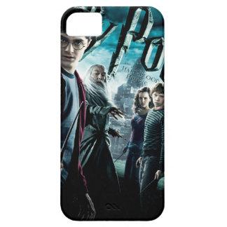 Harry Potter con Dumbledore Ron y Hermione 1 iPhone 5 Cobertura