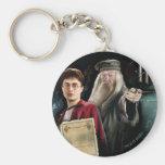 Harry Potter y Dumbledore Llavero Redondo Tipo Chapa