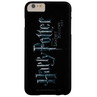 Harry Potter y el mortal santifica el logotipo 1 2 Funda De iPhone 6 Plus Barely There