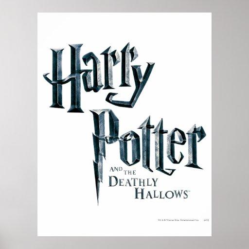 Harry Potter y el mortal santifica el logotipo 1 Posters