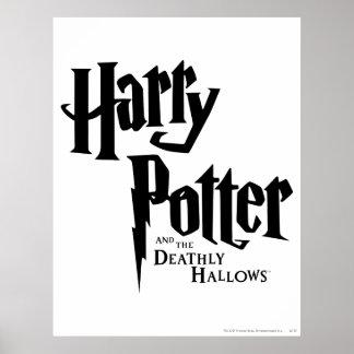 Harry Potter y el mortal santifica el logotipo 2 Póster