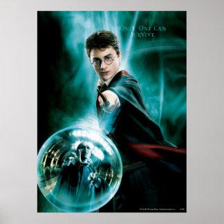 Harry Potter y Voldemort solamente uno pueden sobr Póster