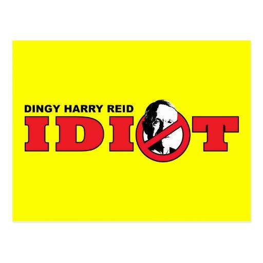 Harry Reid es un idiota Tarjetas Postales