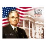 Harry S. Truman - 33ro presidente de los E.E.U.U. Tarjeta Postal
