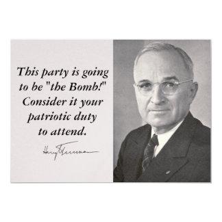 Harry Truman Invitación 12,7 X 17,8 Cm