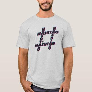 Hashtag 3D tipográfico Camiseta