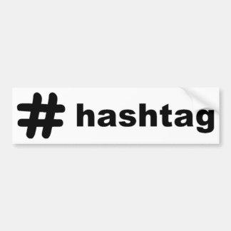 Hashtag Pegatina Para Coche