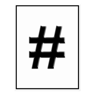#HASHTAG - símbolo de la etiqueta del hachís Postal
