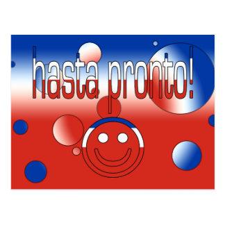 ¡Hasta aprisa! La bandera de Chile colorea arte Postal