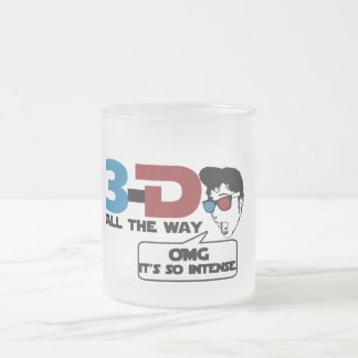 hasta el final vidrios retros tridimensionales taza de cristal