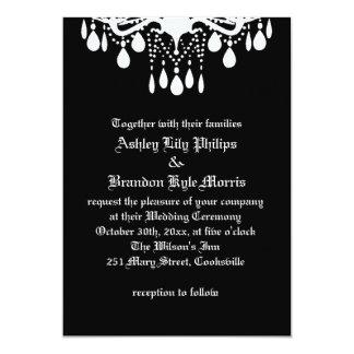 Hasta muerte háganos invitación del boda de la