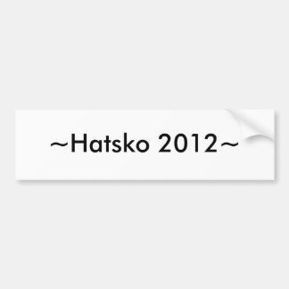 ~Hatsko 2012~ Pegatina De Parachoque