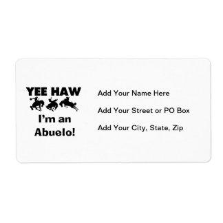 Haw de Yee soy camisetas y regalos de un Abuelo Etiqueta De Envío