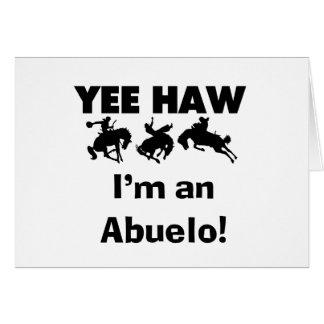 Haw de Yee soy camisetas y regalos de un Abuelo Tarjetón