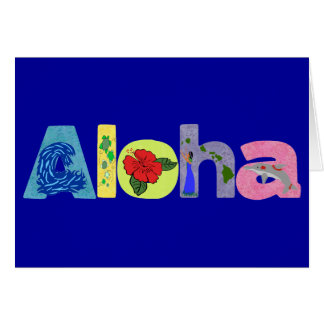 Hawaiana con la tarjeta en blanco de las imágenes