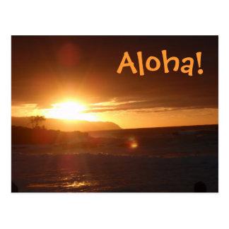 Hawaiana de la postal de Hawaii